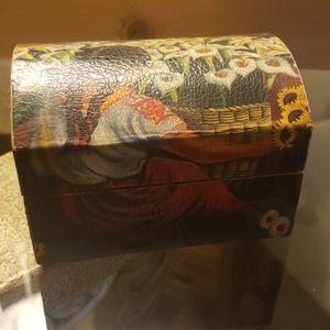 Handmade Wooden Decoupage Chest